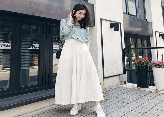 Cách Kết Hợp Chân Váy Midi Với Áo Sơ Mi Công Sở Nữ Tính