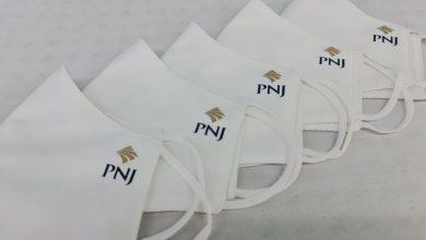 May Khẩu Trang Vải Kháng Khuẩn In Logo Pnj Ngăn Ngừa Covid Cao Cấp