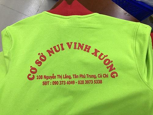 May Đồng Phục Áo Thun Cho Nui Vinh Xương Tân Phú Hàng Đầu