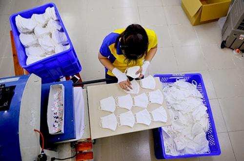 Xưởng Sản Xuất Khẩu Trang Vải Kháng Khuẩn, Giọt Bắn Đi Pháp Chuyên Nghiệp