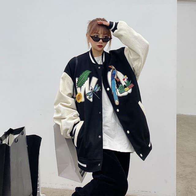 Áo Jacket Nữ Nỉ Phối Nhung