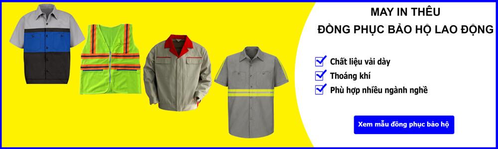 Xưởng may quần áo bảo hộ lao động chất lượng, giá rẻ