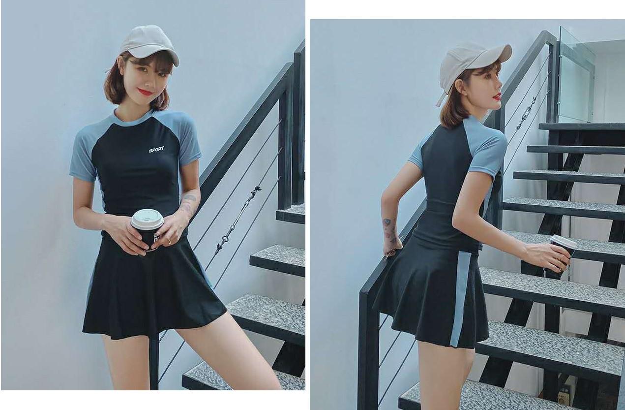Đồ Bơi Nữ Cộc Tay Style Hàn Quốc
