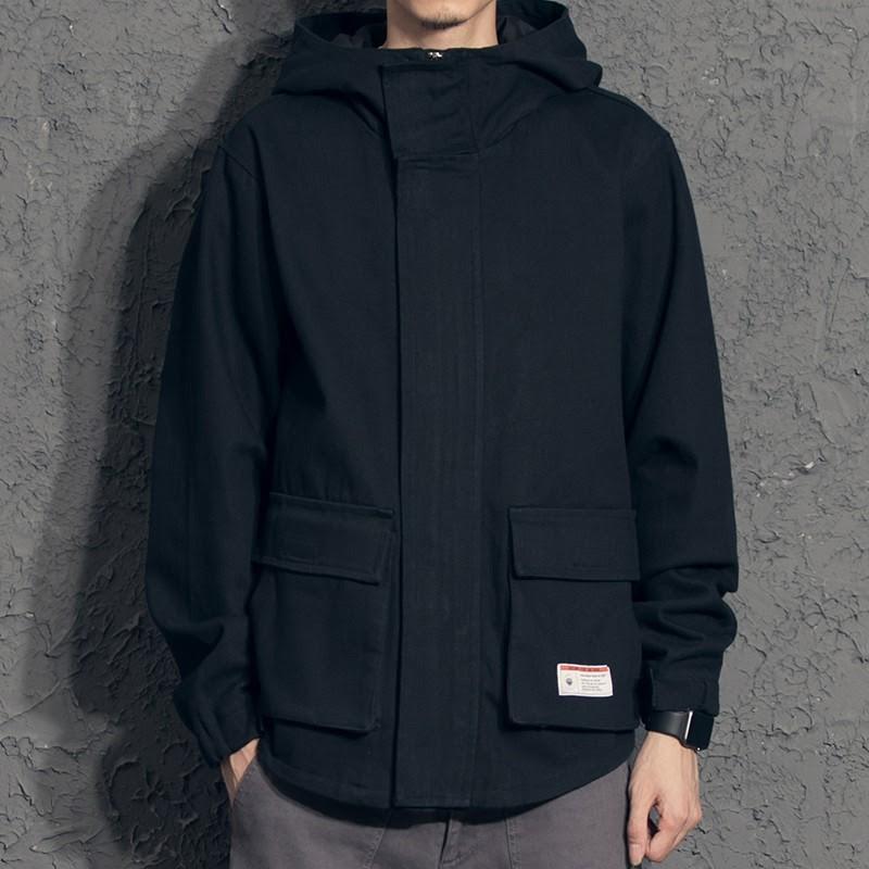 Áo Khoác Jacket Nam Kaki Có Túi Hộp