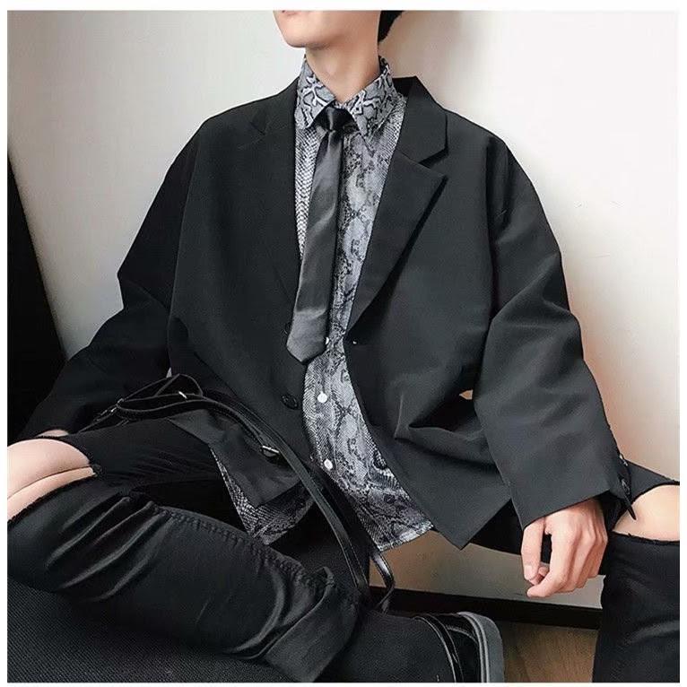 Áo Jacket Suit Nam Dáng Rộng