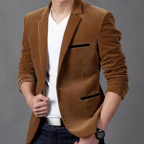Áo Suit Nam Viền Túi Đen