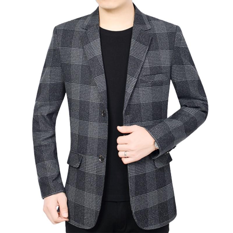 Áo Suit Nam Caro Một Hàng Nút
